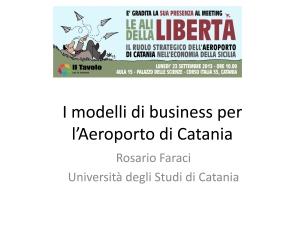I modelli di business per l'Aeroporto di Catania