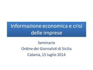 Informazione economica e crisi delle imprese copertina